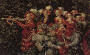 Lucas Cranach Details of The Stag Hunt oil painting artist